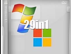 Windows 8.1 ve Windows 7 Tüm Sürümler Tek DVD