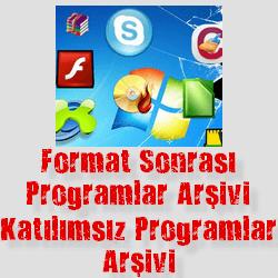 Format Sonrası Gerekli Programlar – Katılımsız Ağustos 2020
