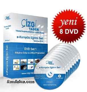 Çizgi Tagem : Bilişime Giriş ve Office Programları Eğitim Seti indir – 8 DVD